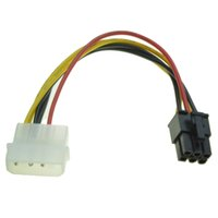Wholesale graphics cards ati - Wholesale- 6Pin Male to 4Pin Molex Male Power Supply Cable Graphics Card Power Port to D Plug Converter Cable for nVidia ATI AMD video card