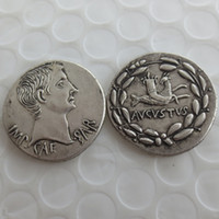 Wholesale wholesale ancient coins - RM(13)Ancient Roman Silver Cistophoric Tetradrachm Coin of Emperor Augustus - 25 BC Nice Quality Coins Retail  Whole Sale Free shipping