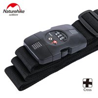 Wholesale Tsa Travel - Wholesale- Naturehike Cross Nylon Travel Suitcase Straps 3-Dial TSA Security Lock Customs Luggage Strapping Belt Packing Baggage 2Colors