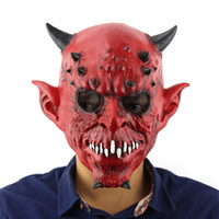 Wholesale Hallowen Mask Wholesale - Wholesale- 1pc High Brand Halloween Adult Costume Masquerade Face Party Cosplay Latex Mask New quality Carnival Hallowen Horror Mask macka