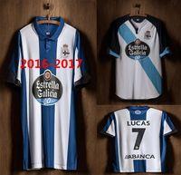 Wholesale Open Casual Shirts - Top Quality New shirt with Thailand quality 201617 Man adult shirt Shirt 16-17 Deportivo la coruna home football jersey