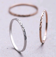 Anneaux En Or Simples En Coréen Pas Cher-Simple Coréenne Thin Knuckle Ring Band Bijoux S925 Sterling Silver Index Pinky Finger Rings Silver Rose Gold Taille Mix