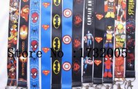 Wholesale Girls Camera Phone - New Marvel Movies Avengers Superheros Cello Phone key chain Neck Strap Keys Camera ID Card Lanyard Y-011