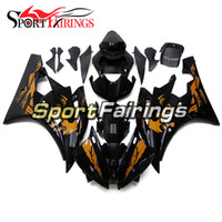 Carénages d'injection pour Yamaha YZF600 YZF R6 06 07 2006 - 2007 ABS Motorcycle Full Fairing Gloss Noir Orange Carrosserie Cowling