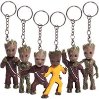 Wholesale Galaxy Keychain - 2017 new Guardians of the Galaxy Action Figures cartoon Groot Key ring Pendant 7.5cm 3inches Keychain C2337