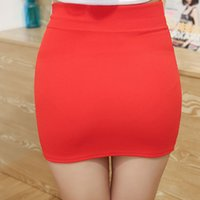 Wholesale Tight Mini Skirts - New Micro Mini Skirts 2017 Summer Sexy Girls Skirts Casual Package Hip Short Skirts Women Tight Office Party Female Red Black 50