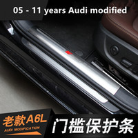 Wholesale Welcome Stickers - Dedicated to the old section of the Audi A6L threshold 05-11 years A6L welcome pedal built-in special modified accessories