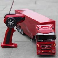 Wholesale Motor Trailers - Wholesale-Kingtoy Detachable Kids Electric Big Rc truck Detachable Trailer Remote Control Wireless Truck Toy
