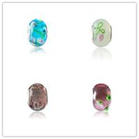 keramik kristall perlen großhandel-Neue Legierung Perlen Tropfen Retro großes Loch Perlen natürlichen Glas Kristall transparent Keramik Stil für DIY Armband Schmuck