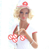 Wholesale Sex Boobs For Men - 165cm Nurse cosplay realistic solid sex doll for men,male masturbator toys with real full size love doll with big boobs