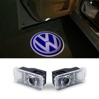 Wholesale Vw Projector Logo Led - Car door light logo projector welcome led lamp ghost shadow lights For Volkswagen VW Phaeton Passat B5 B5.5