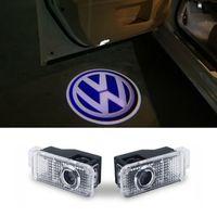 Wholesale Vw Passat Lamp - Car door light logo projector welcome led lamp ghost shadow lights For Volkswagen VW Phaeton Passat B5 B5.5