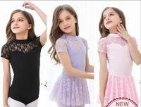 Wholesale Child Leotard Skirt - Ballet Dancing Costume Children 2017 New Arrival Summer Sleeveless Lace Practice Dance Leotard Ballet Skirt