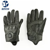 ingrosso guanti da corsa di dimensioni-Pursuit Guanti in pelle di capra HZYEYO Corse Sport all'aperto Finger Gloves moto Full Size M, L, XL, HZ-002