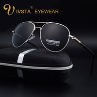 Wholesale High Quality Aviator Glasses - IVSTA 2017 Pilot Sunglasses Mens Fashion Aviator Sunglasses 209 Men Polarized Lenses High Quality Day Glasses Driving Sunglasses Women