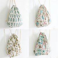 Wholesale Striped Canvas Bag Drawstring - Canvas String knapsacks Fashion Backpacks Women's Striped Drawstring Shoulder Bags Colorful Bags Accessories Wholesale Hot 2016