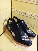 Wholesale Shape Up Sandals Women - Stella Mccartney Sandals Heart-shaped Shoes Genuine Leather Wedge Platform Elyse Nina