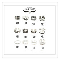 Wholesale unique simple rings - Fashion Rings Flower Toe Ring Women Lady Unique Adjustable Opening Finger Ring Fashion Simple Sliver Retro Carved Foot Beach Jewelry