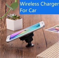 Wholesale Wireless Charger Ac - Wireless Charger Car Apple Samsung Andrews Wireless Charger Car 360-degree rotating QI wireless charging car bracket