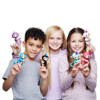 Wholesale Wholesale Kids Christmas Toys - Presale Fingerlings Interactive Kids Monkey Sound Finger Motion Hanger Toy Colorful Finger Monkey Fingerlings Party Favor CCA7306 100pcs