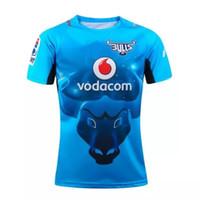 jerseys baratos equipos de fútbol al por mayor-AIG Super NRL Sudáfrica toros camiseta de rugby Inglaterra camiseta de fútbol equipos Sport envío gratis Venta al por mayor Caliente barato