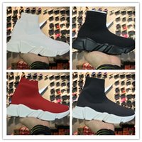 Wholesale Men White Cotton Socks - High Quality Luxury Sock Shoe Speed Trainer Running Sneakers Speed Trainer Sock Race Runners black Shoes men and women Sports Shoes 36-45