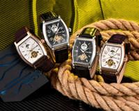 homens relógios de luxo china venda por atacado-Nova Tendência OEM Aço Inoxidável China Fornecedor Pulseira De Couro Genuíno Relógio De Pulso De Luxo Homens U09888 PPP