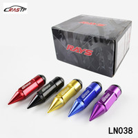 Wholesale Lug Nuts Wheel Locks - RASTP -M12x1.25 VOLKS RAYS Racing Composite Nut Anti Theft Alloy Aluminum Lock Wheel Lug Nut Bolt With Spikes Spec RS-LN038