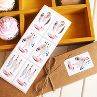 Wholesale Packaging Supplies Cookie Box - Bakery package sticker cookie bag seal label dessert box packaging paster rectangle stickers party gift decoration favors supply