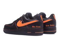 Wholesale Adult Skate Shoes - Men Athletic Vlone X Ultra Classics 1 Low Skate Shoes,Adult Brand Casual Sneakers Black Orange 39-45