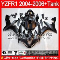 ingrosso kit per yzf r1-Nero opaco 8Gift 23Color Body Per YAMAHA YZF R 1 YZF 1000 YZFR1 04 05 06 58HM13 YZF-R1000 YZF-R1 YZF1000 YZF R1 2004 2005 2006 Kit carenatura