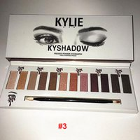 2017 chirstmas kylie 12color kyshadow Pressed Powder Eyeshadow opaca gel ombretto versione occhio impermeabile ombra 3