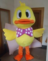 Wholesale Teams Mascot Costumes - hot sale new Yellow Large Rubber Duck Cute Animal School Team Mascot Costume Fancy Dress