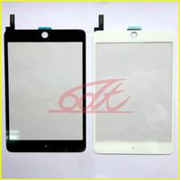 ipad mini digitalizador substituição preto venda por atacado-Painel de vidro da tela de toque com o digitador para o Ipad Mini 4 A1538 Peças de substituição A1550 Nenhuma tecla Home nenhum preto adesivo