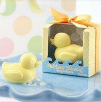jabón perfumado para bebés al por mayor-Nuevo diseño hecho a mano Jabón Ducky Baby Shower Jabón Aromatizado Fiesta Pato Favor para regalos de boda 5.5 * 4.5 * 6.3cm