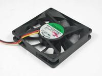 Wholesale Sunon Dc Fan - Free Shipping For SUNON KD1208PHB1, 13.(2).F.GN DC 12V 1.2W 3-wire 3-pin connector 80mm 80x80x15mm Server Square Cooling Fan