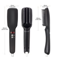 Wholesale Tamax HS001 in1 Anion Fast Hair Straightener Comb Smooth Brush Hair Straightening Irons Negative Ions Auto LCD Ceramic Hair Straight Brush