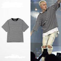 Wholesale Rock Fashion Boy - 2017 Lowest price Spring Summer Short Sleeve T Shirts Men Striped Fashion Tees Slim Fit Plus Size Breton Top Tees street rock boy