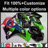 вторичный рынок мотоциклов оптовых-Инъекции плесень зеленый черный послепродажного мотоцикл капот для Suzuki GSX-R1000 2007-2008 07 08 GSXR1000 2007 2008 07-08 ABS пластиковый обтекатель