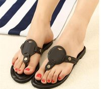 Wholesale Cool Shoe Brands - Famous designer brand hot fashion flat with cool slippers slippers leather flip summer beach flip-flops shenzhen 34-42 sandal shoes for wome