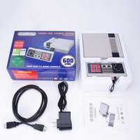 Wholesale Game Player Wireless - HD HDMI Out Retro Classic handheld game player Family TV video game console Childhood Built-in 600 Games For NEC Mini Free Shipping DHL