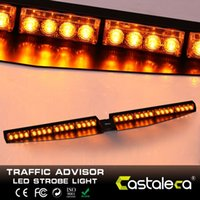 32 LED Car 5 couleurs Amber Emergency Traffic Advisor Flash Strobe Light Bar Flash Warning Light Vechicle Dash Light Warning Amber