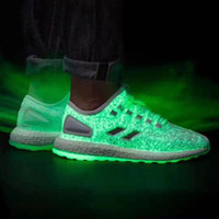 Mesh sports wishes - Brand New Sneakerboy Wish Pure Boost Triple White Glow In The Dark S80981 Womnes Men Running Shoes Sneaker Real Boost Shoes Sport