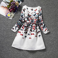 Wholesale Baby Clothes Christmas Designs - 2017 spring autumn designs kids clothes longsleeve children girl dress wholesale baby clothes