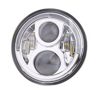 Chrome 7 polegadas Led Headlight com Halo Ring DRL para Honda Motorcycle CB400 CB500 CB1300 Hornet 250/600/900 CB250 farol