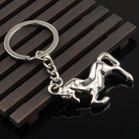 Wholesale Electronic Gifts For Men - high quality metal horse key ring for company promotional gift key chain key holder