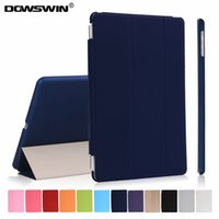 Wholesale for new ipad case release pu leather smart wake up sleep matte transparent pc back cover fold flip stand