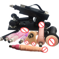 Wholesale Sex Machine Gun Men - Luxury Automatic Sex Machine Gun Set for Men and Women Making LOVE Machine with Male Masturbation Cup and Big Dildo Sex Toy