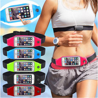 Wholesale S4 Pocket - Waterproof Sport GYM Waist Bag Phone Case For iPhone 6 Samsung s4 s5 s6 s7 cell phone Outdoor Climbing Bag Running Pocket Wallet Bags Pouch