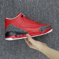 Wholesale Dj Canvas - (with box) 2017 Air retro 3 x DJ Khaled Grateful Mens basketball shoes fire red top quality retro 3s Mens Sneakers us8.0-13